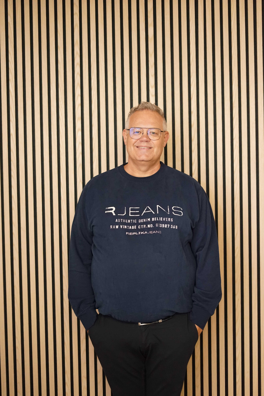 Replika Jeans sweat m/logo BLÅ 99853