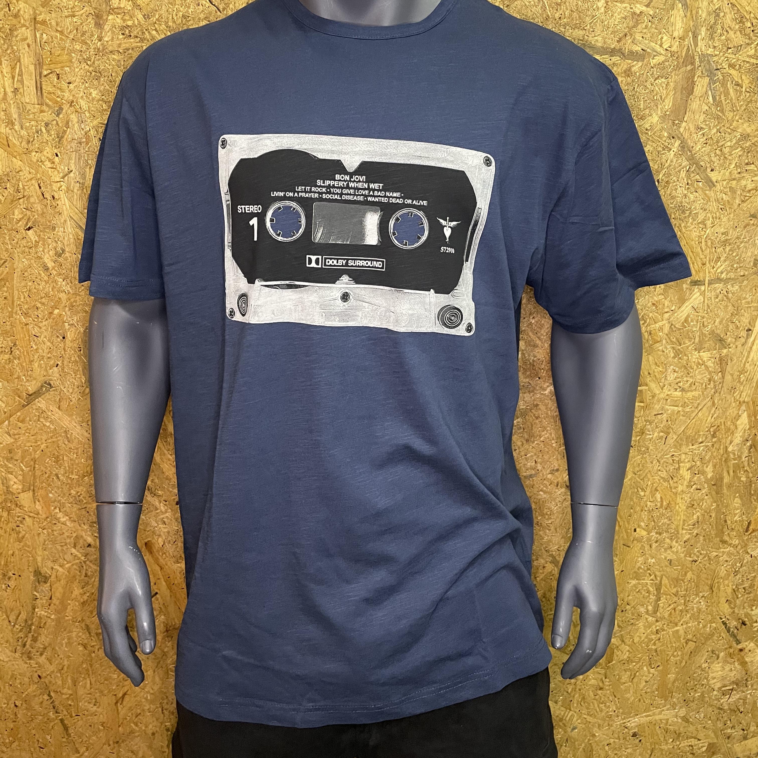 Replika Jeans bon jovi t-shirt blå 11362
