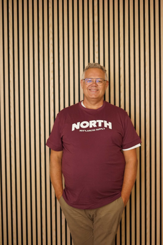 North 56˚4 t-shirt rød 13120/370