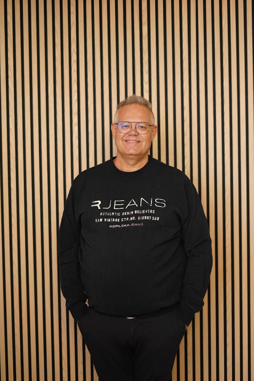Replika Jeans sweat m/logo SORT 99853
