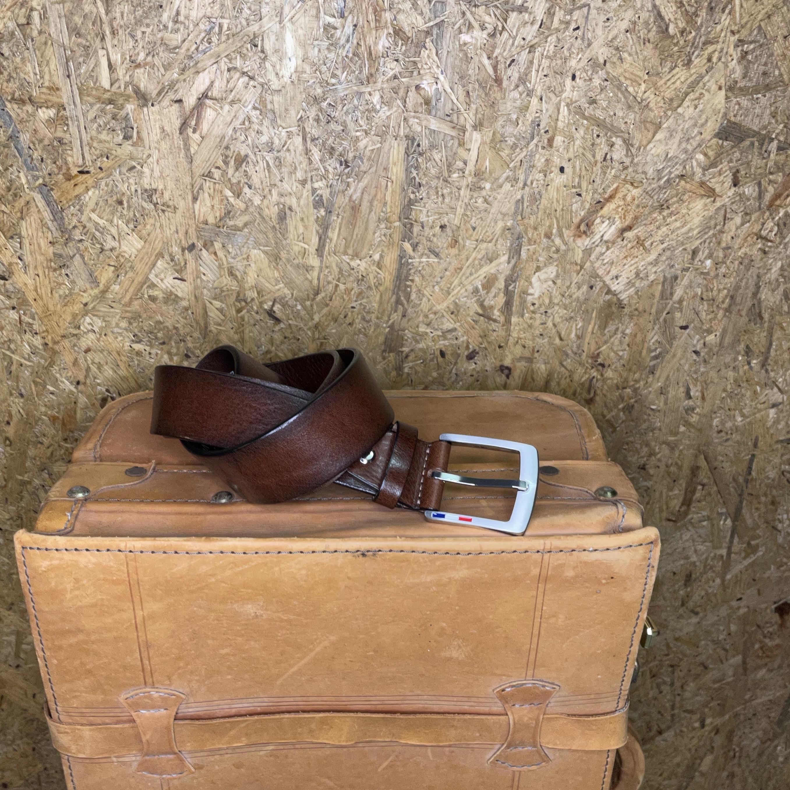 Bosswik læder bælte brun