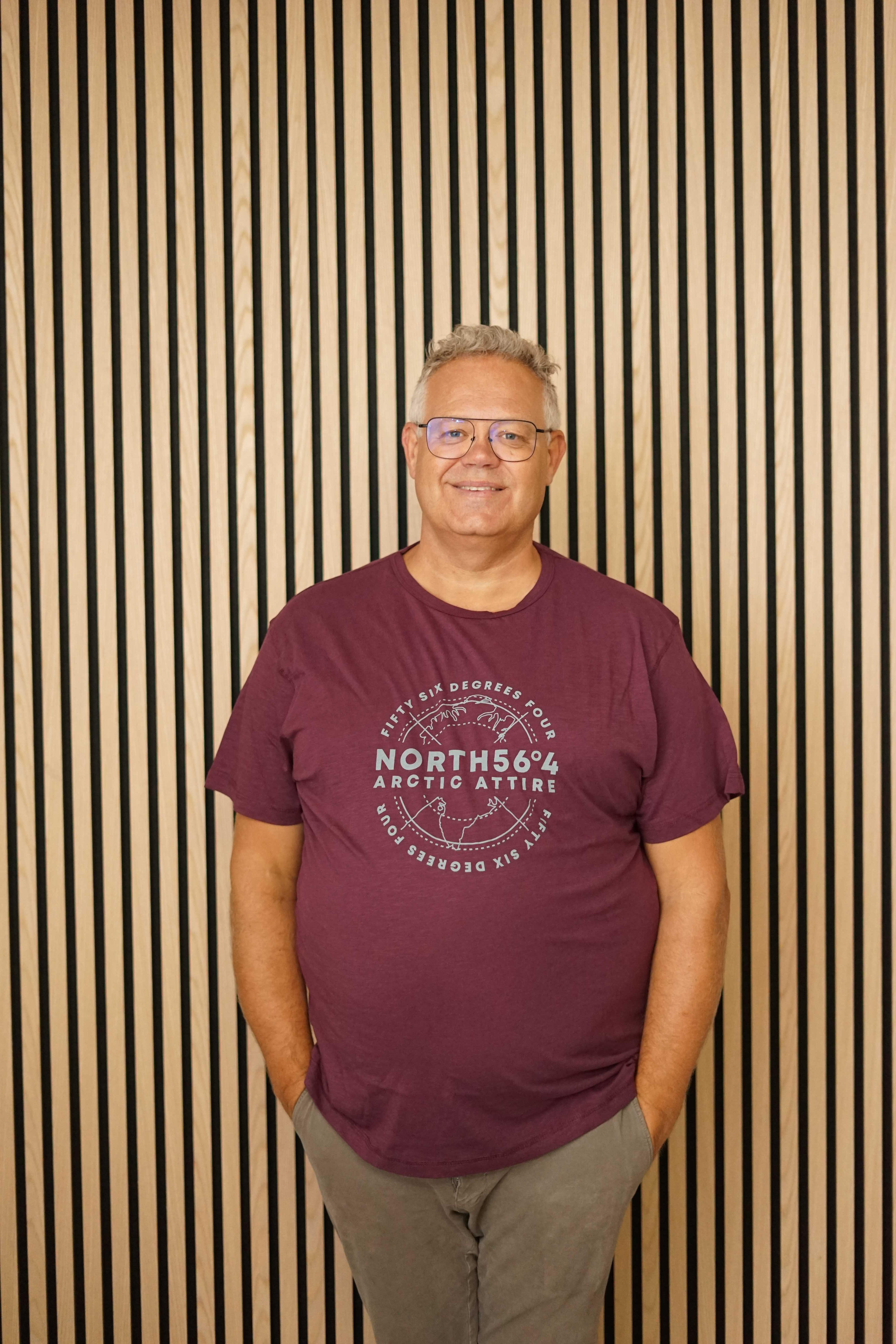 North 56˚4 t-shirt bordoux 13125/370