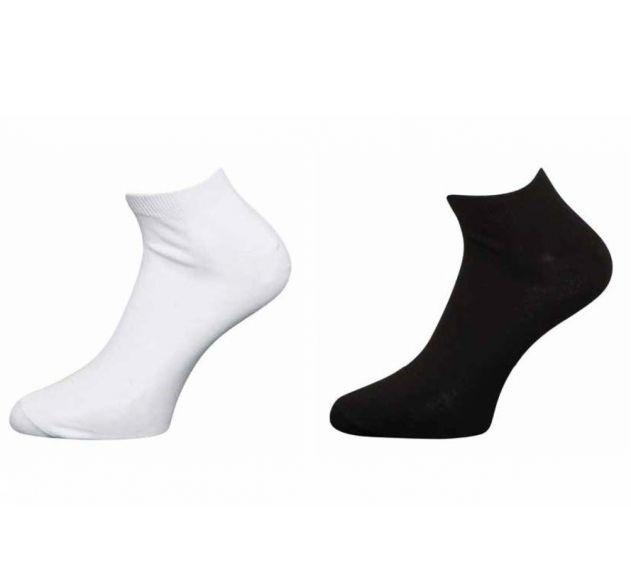 Claudio sneakers strømper 5 par  4-12430-1100 sort
