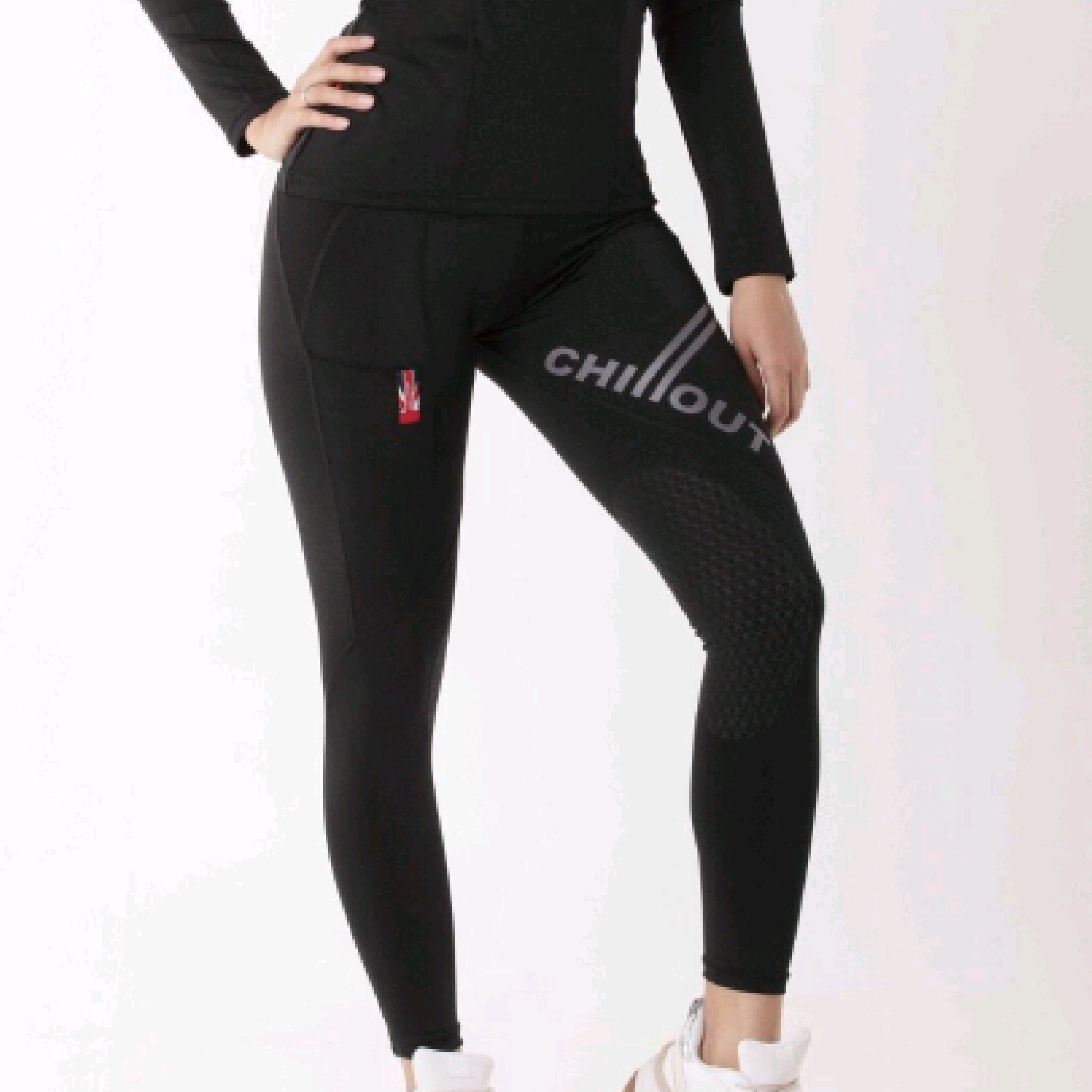 Chillout Black/Grey Silicone Riding Tights