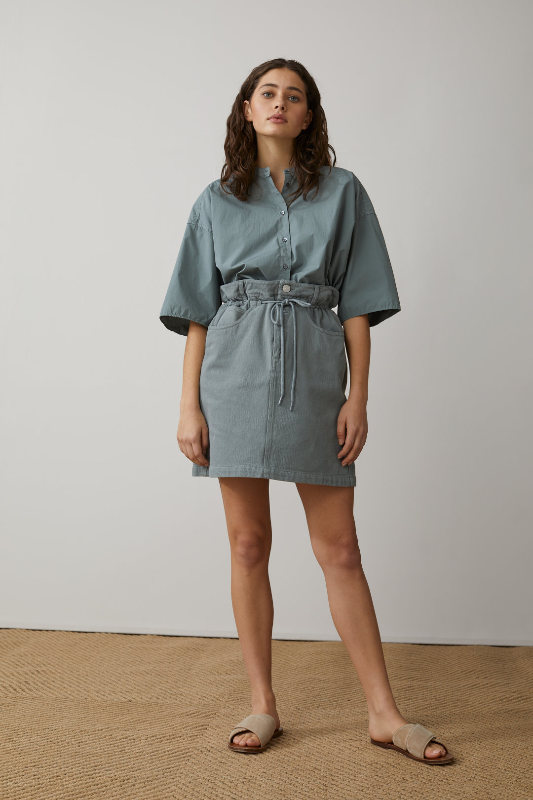 REA 30% - Cotton Twill Skirt - Closed