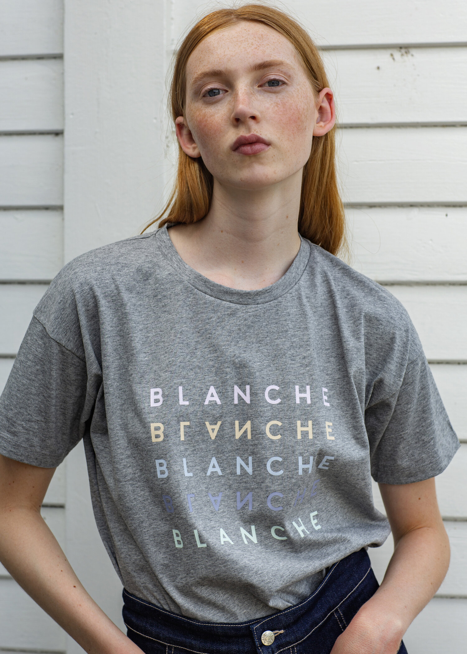 Main Logo logo T-shirt - Blanche
