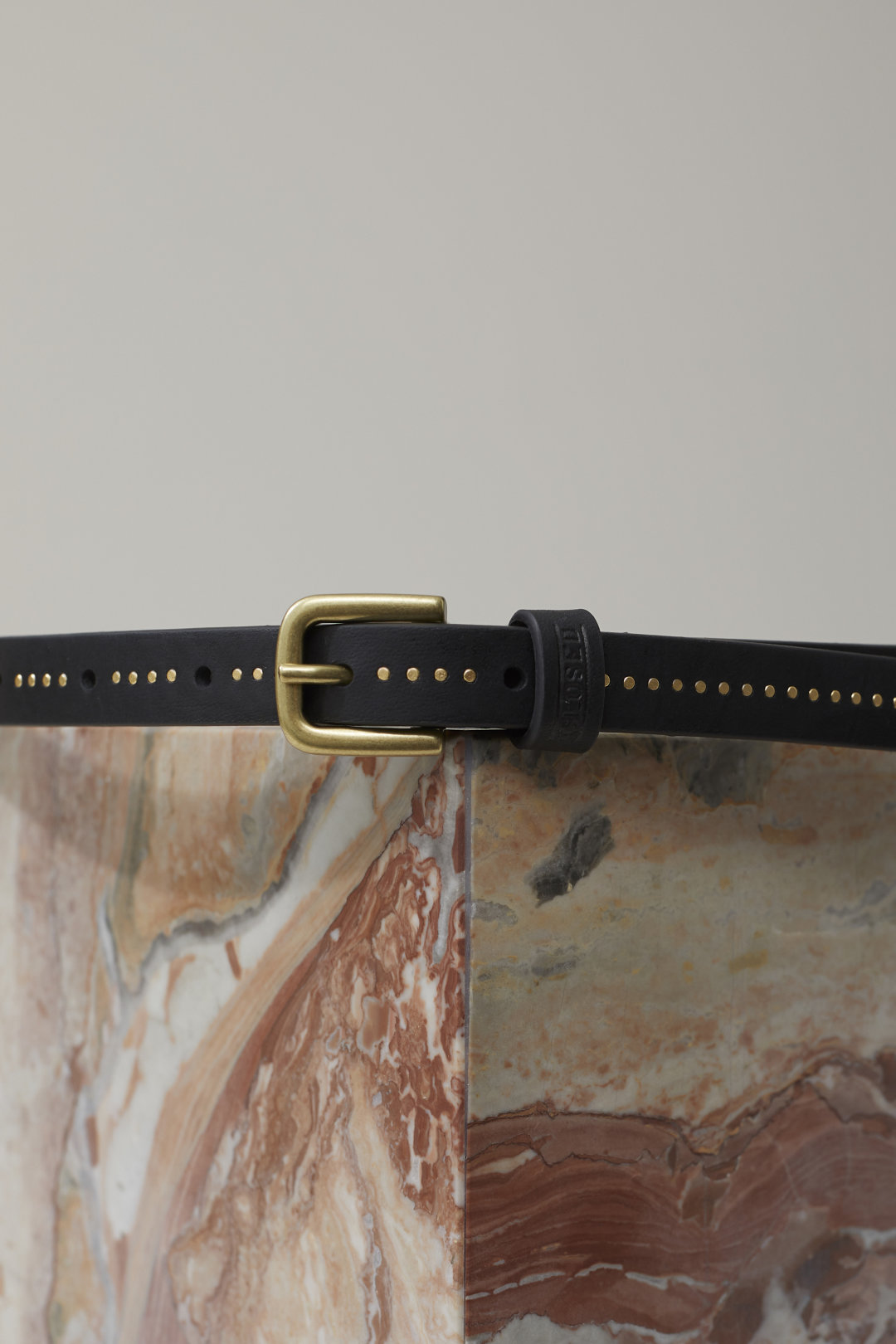 Leather Belt with Studs - Closed