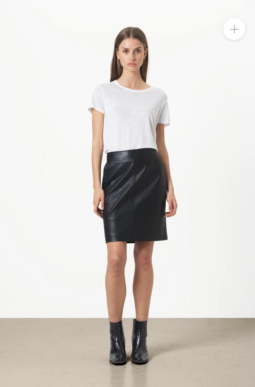Francie Mini läder kjol - Second Female