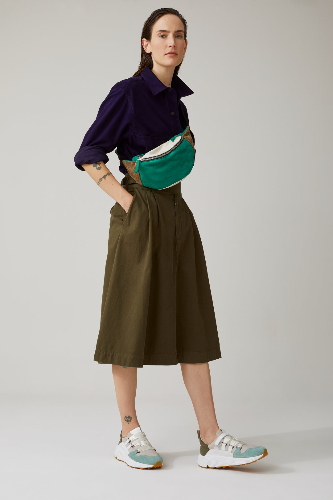 50% - Cotton Cargo Skirt - Closed