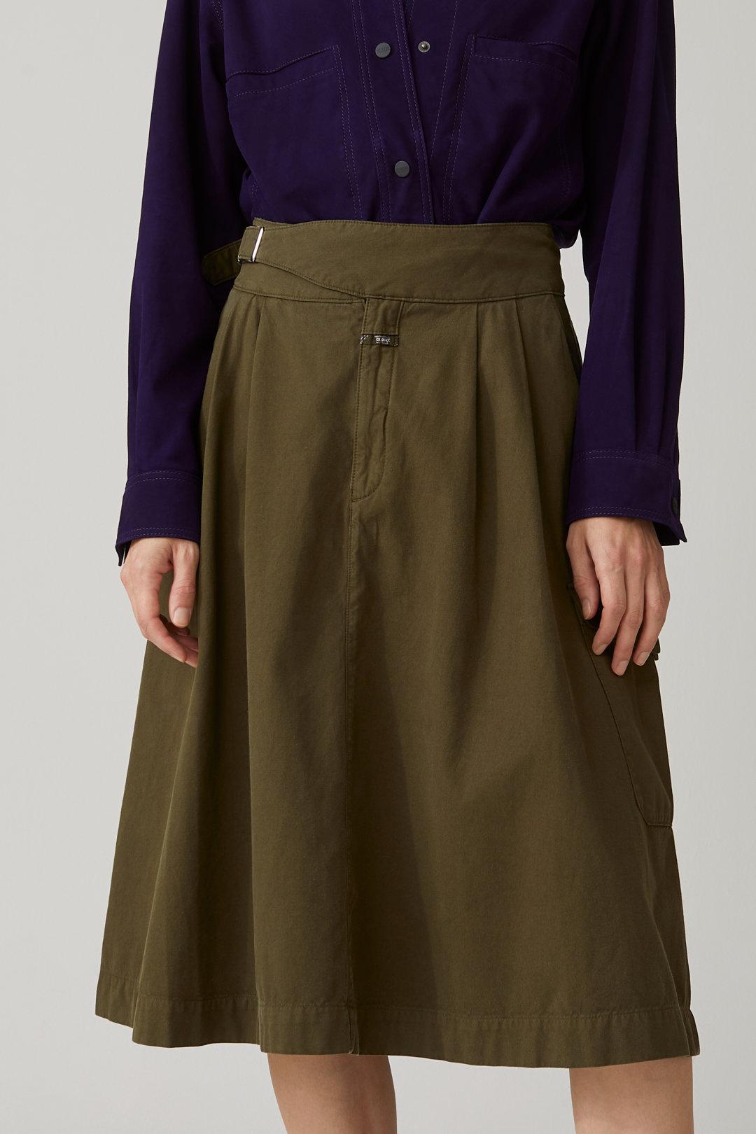 50% - Cotton Cargo Skirt - Closed