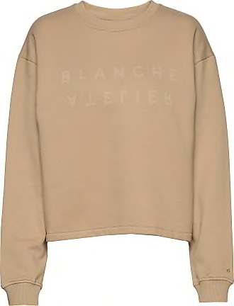 Hella Oversize Embossed Sweat - Blanche
