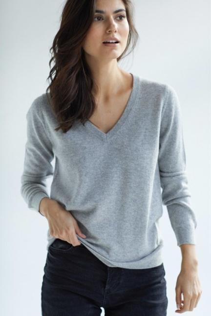 V-neck loose sweater - Davida