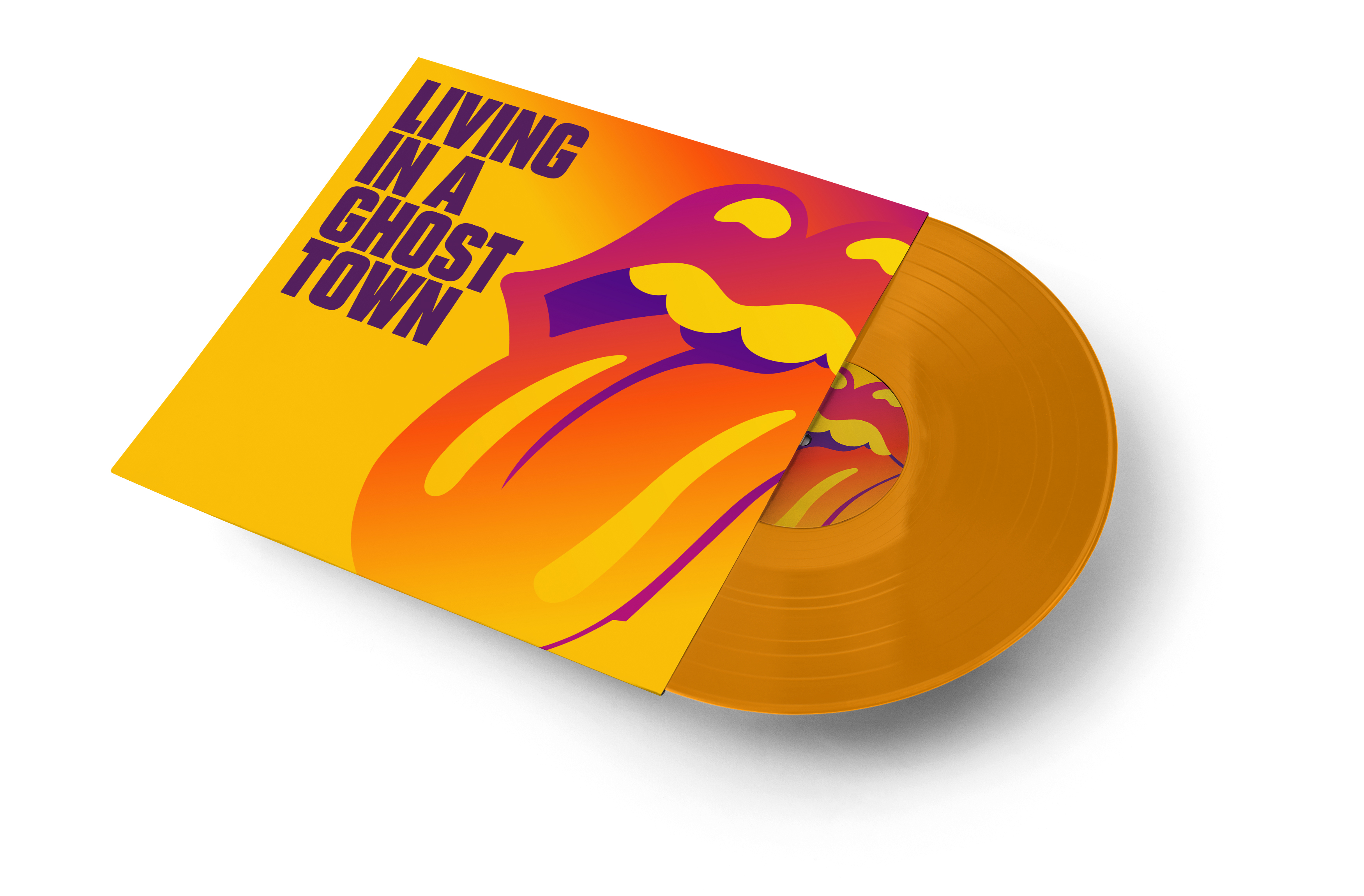 "Rolling Stones - Living In A Ghost Town [10""] (Orange vinyl)"