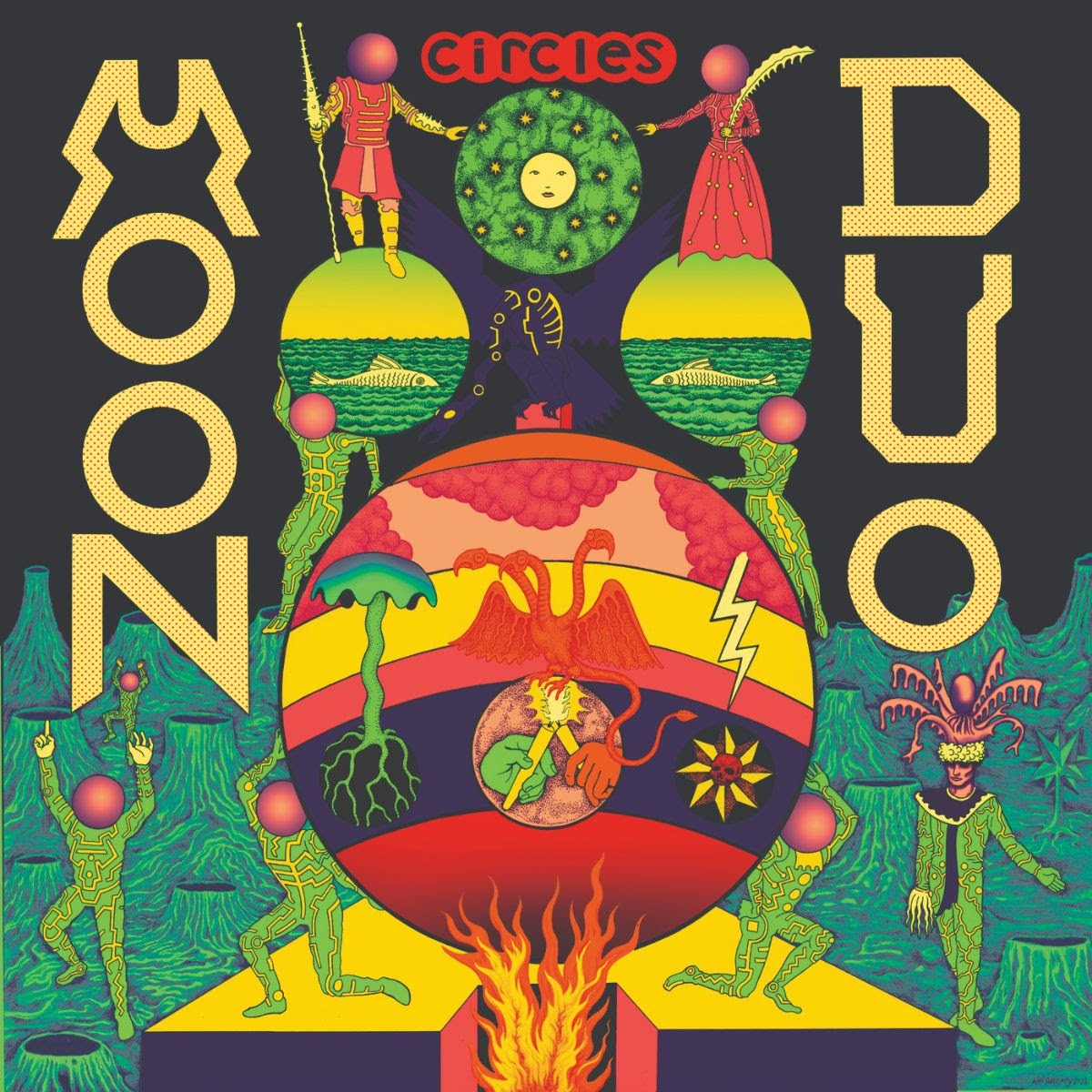 Moon Duo - Circles [LP] (Green Vinyl)