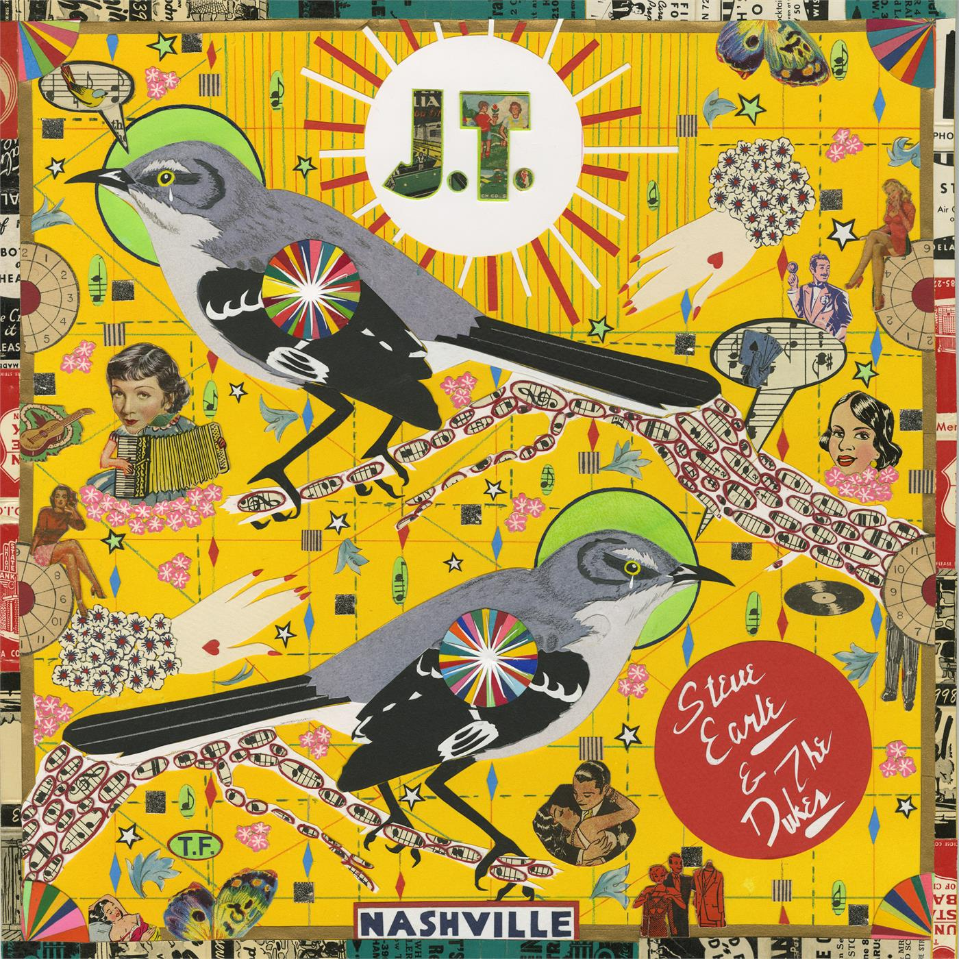 Steve Earle & The Dukes - J.T. [LTD LP] (translucent red w/ black swirls Nordic edition)