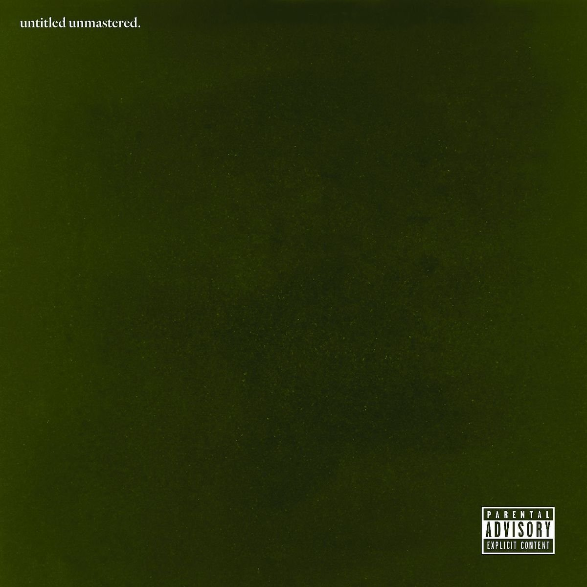 Kendrick Lamar - Untitled Unmastered. [LP]
