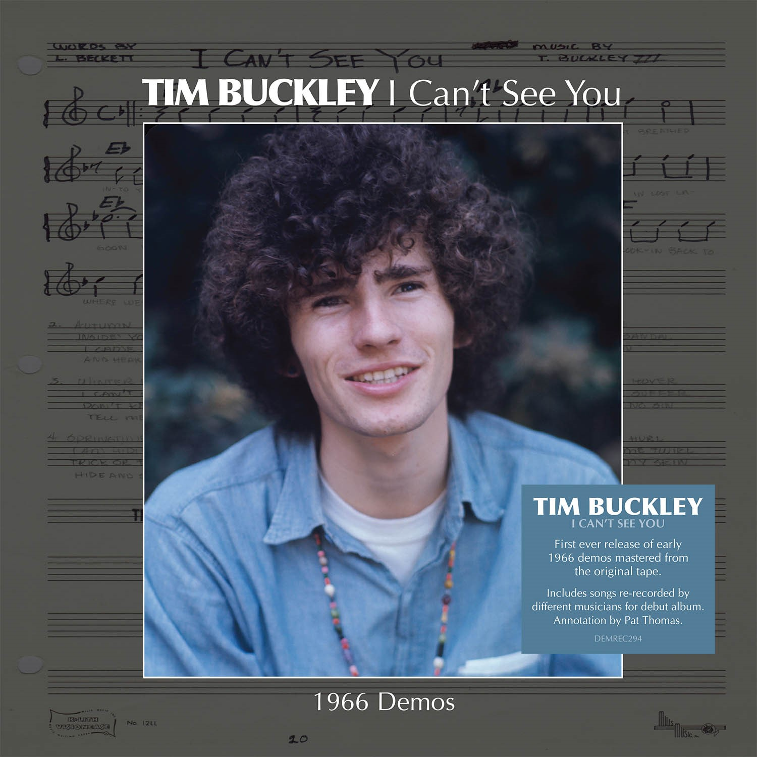 """Tim Buckley - I Can't See You (1966 Demos) [12""""]"""