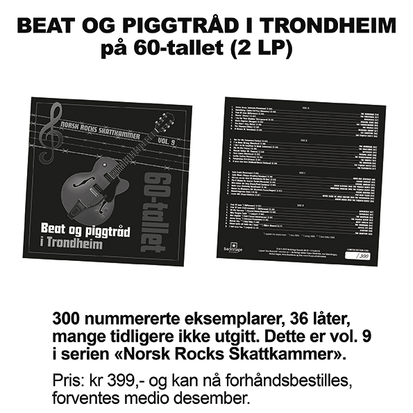 Beat og piggtråd i Trondheim - 60-tallet [2xLP]