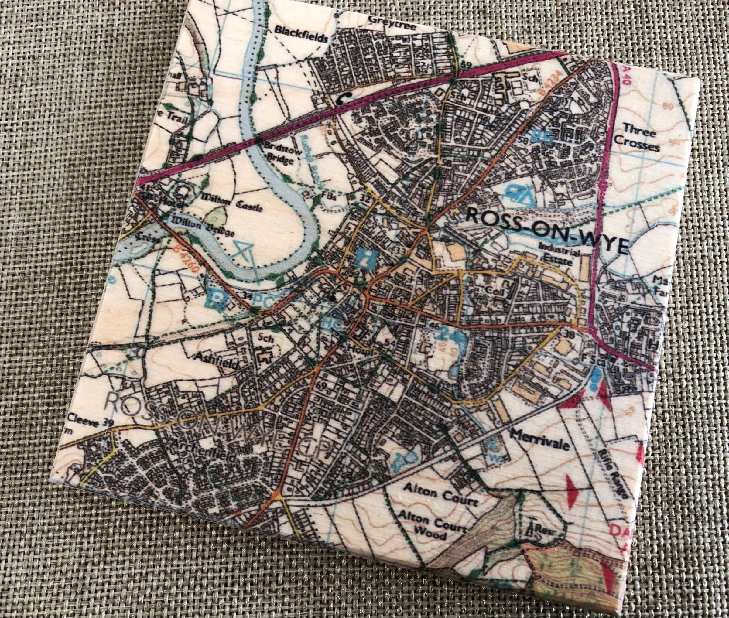 Ross-on-Wye map coaster