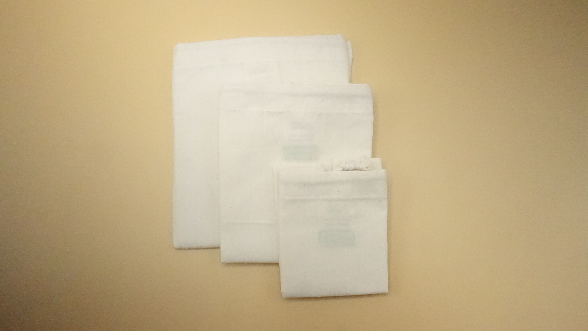 Produce bag 3 pack solid cotton