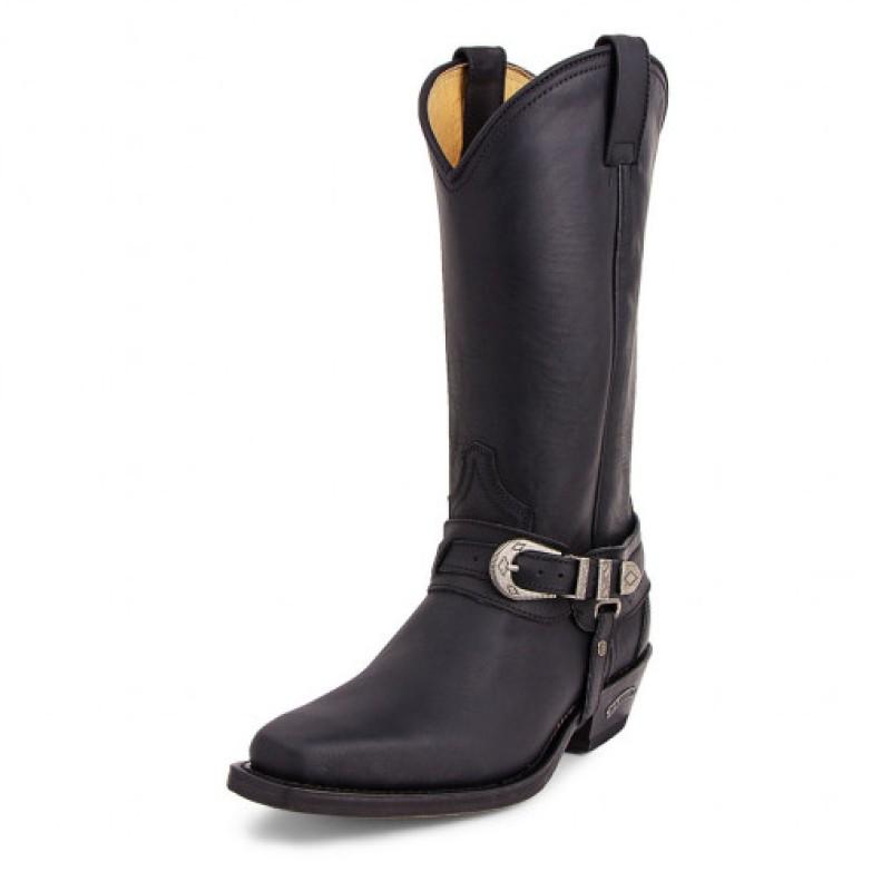 3452 Old West boots svarta Sendra