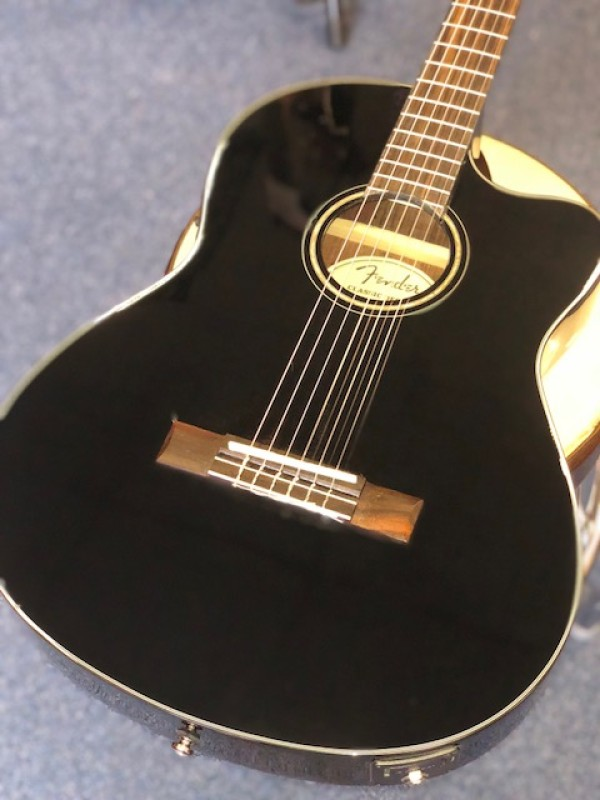 FENDER CN-140SCE BLACK WITH CASE