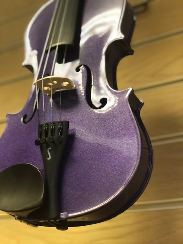 Stentor Harlequin 1401 3/4 violin in purple
