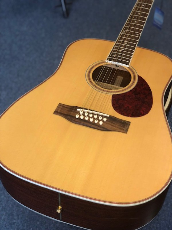 FRESHMAN FA 250D D'NOUGHT 12 STRING ALL SOLID W/FOC CASE