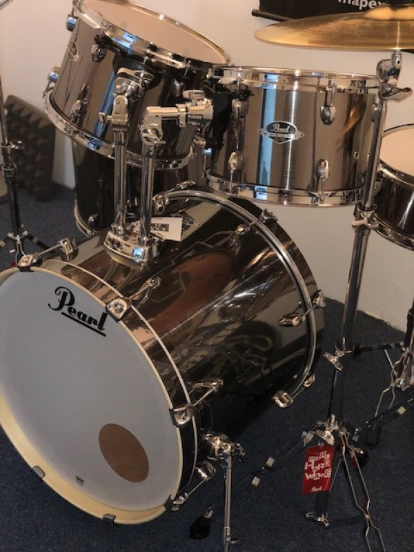 PEARL EXPORT EXX SMOKEY CHROME WITH SBR CYMBALS