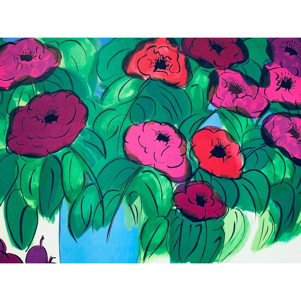 """""""Flowers"""" Serigraph by Walasse Ting. 75 x 55 cm"""