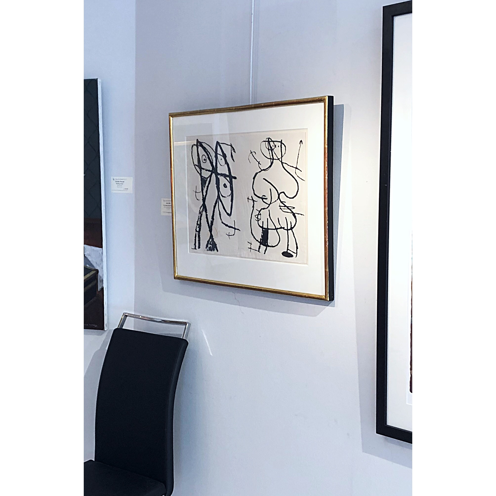 """""""Le Artisan Grotesque"""" Etching by Joan Miró. 77x62 cm"""