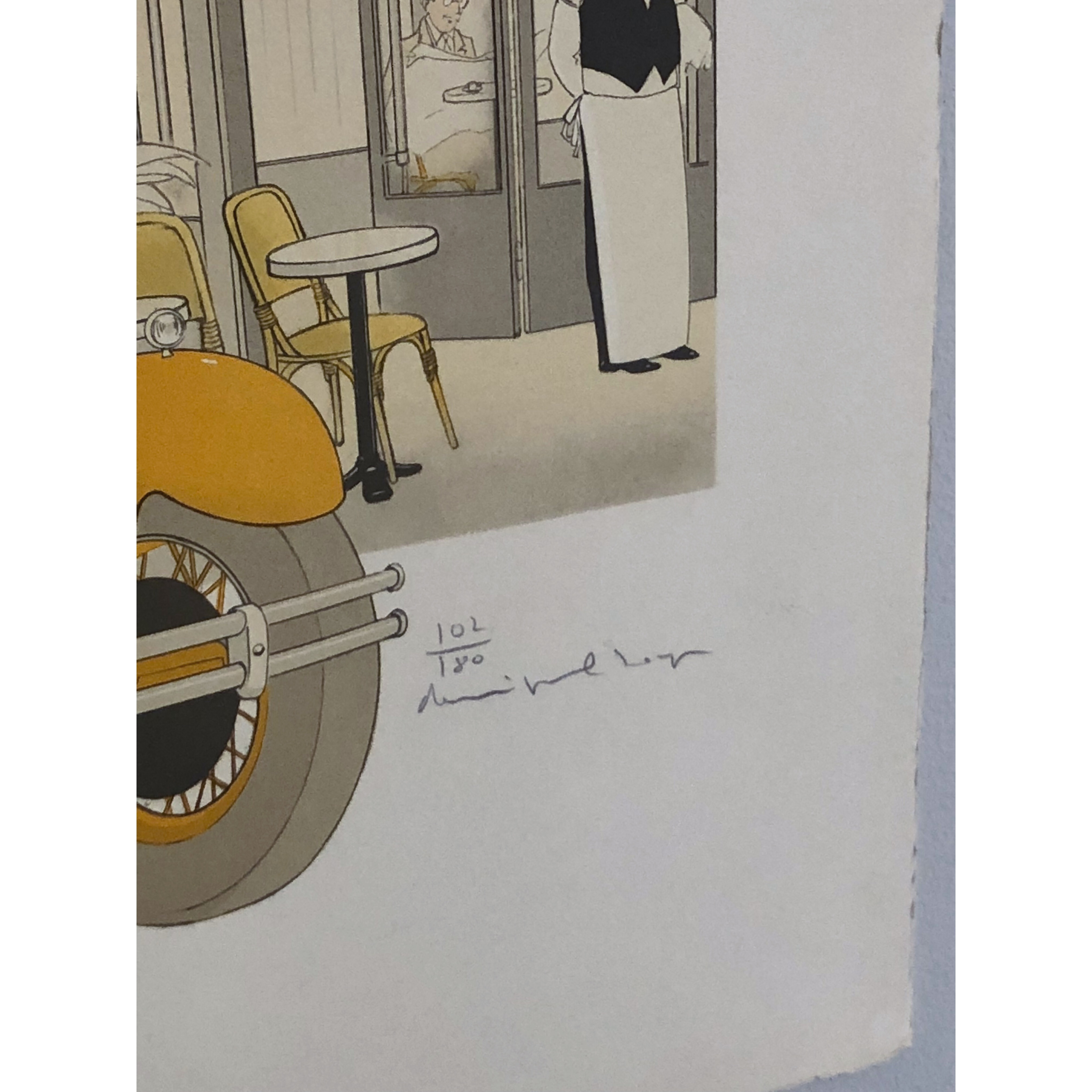 """Brasserie Lipp"" Lithograph by Philippe Henri Noyer. 63,5 x 90 cm"
