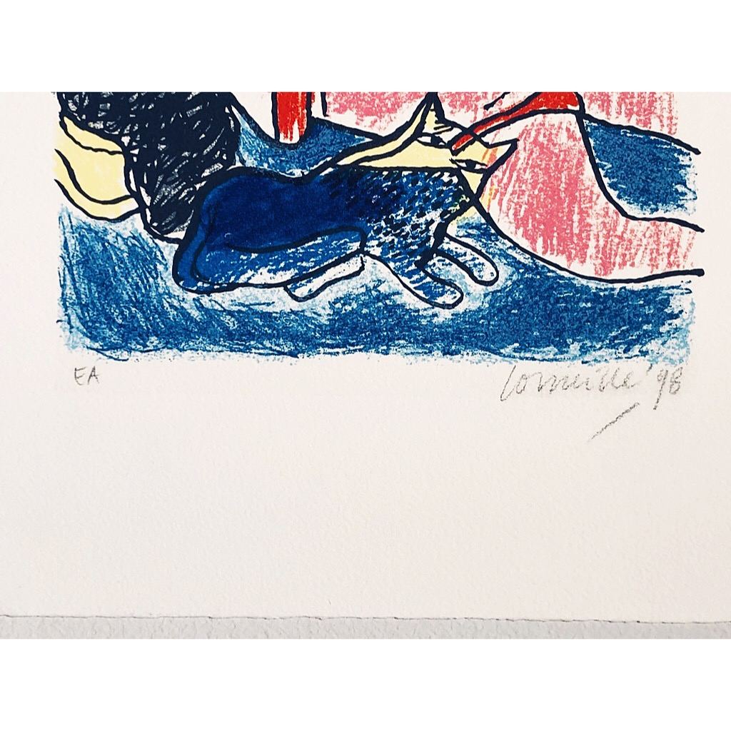"""""""No title"""" Lithograph by Beverloo Corneille. 26,5 x 40,5  cm"""