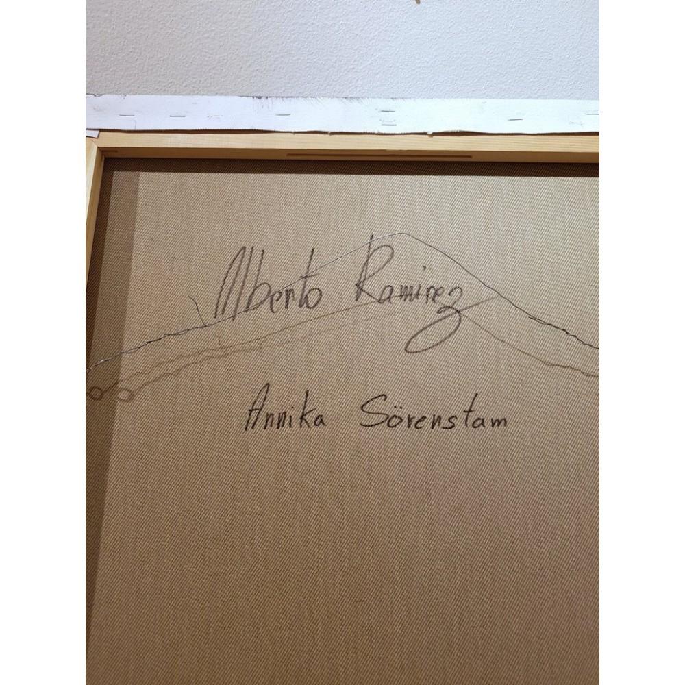"""Annika Sörenstam"" Acrylic on canvas by Alberto Ramirez LEG 50x60 cm"