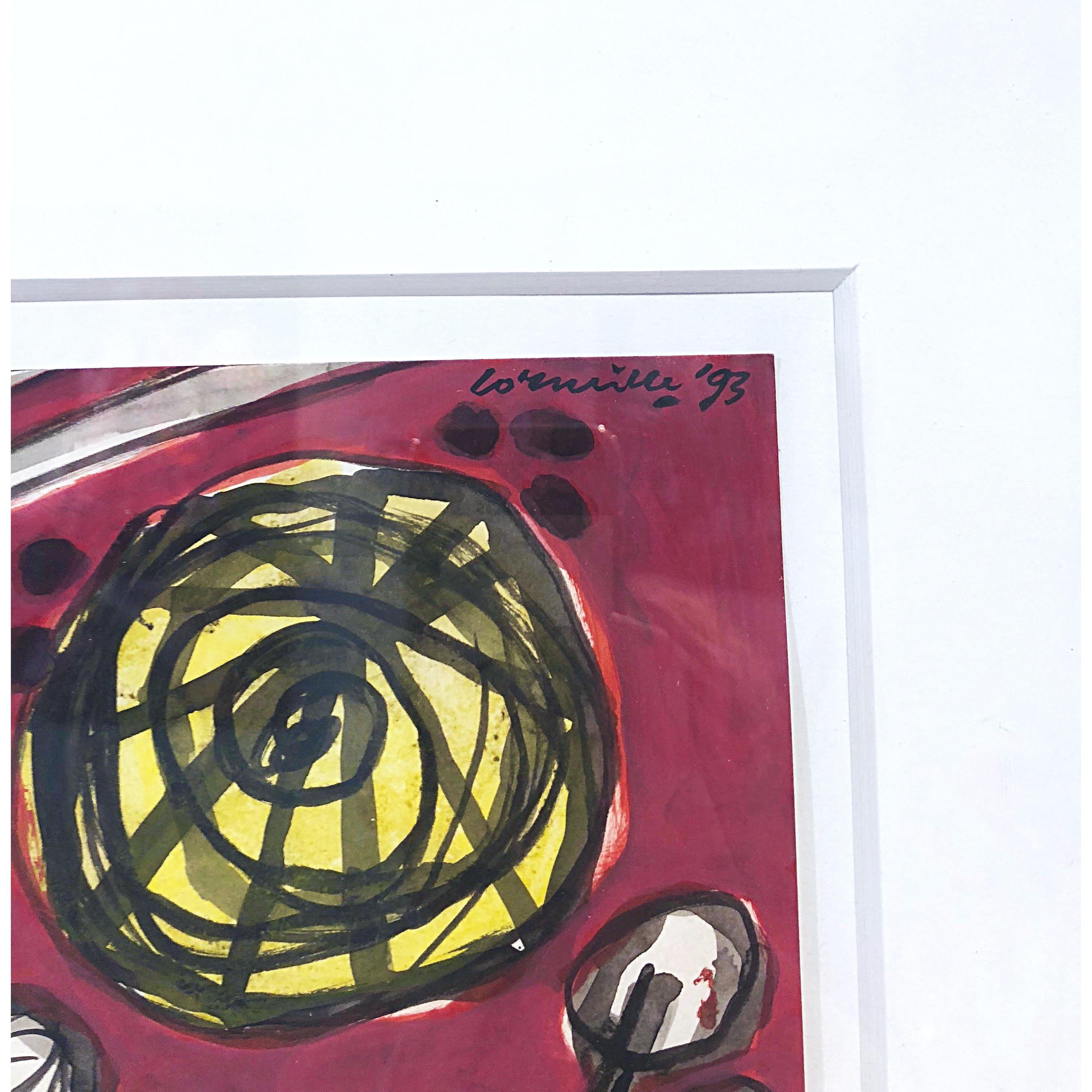 """No title"" Watercolor by Beverloo Corneille. 33 x 40 cm"