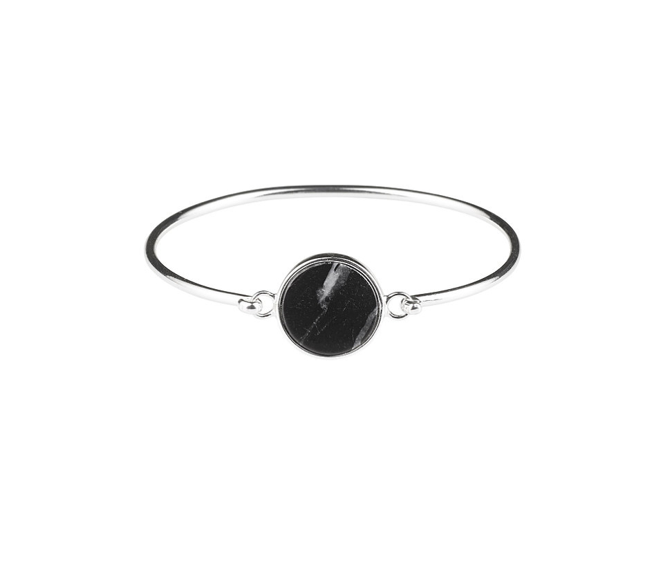 Plissé Copenhagen - Marble bracelet silver