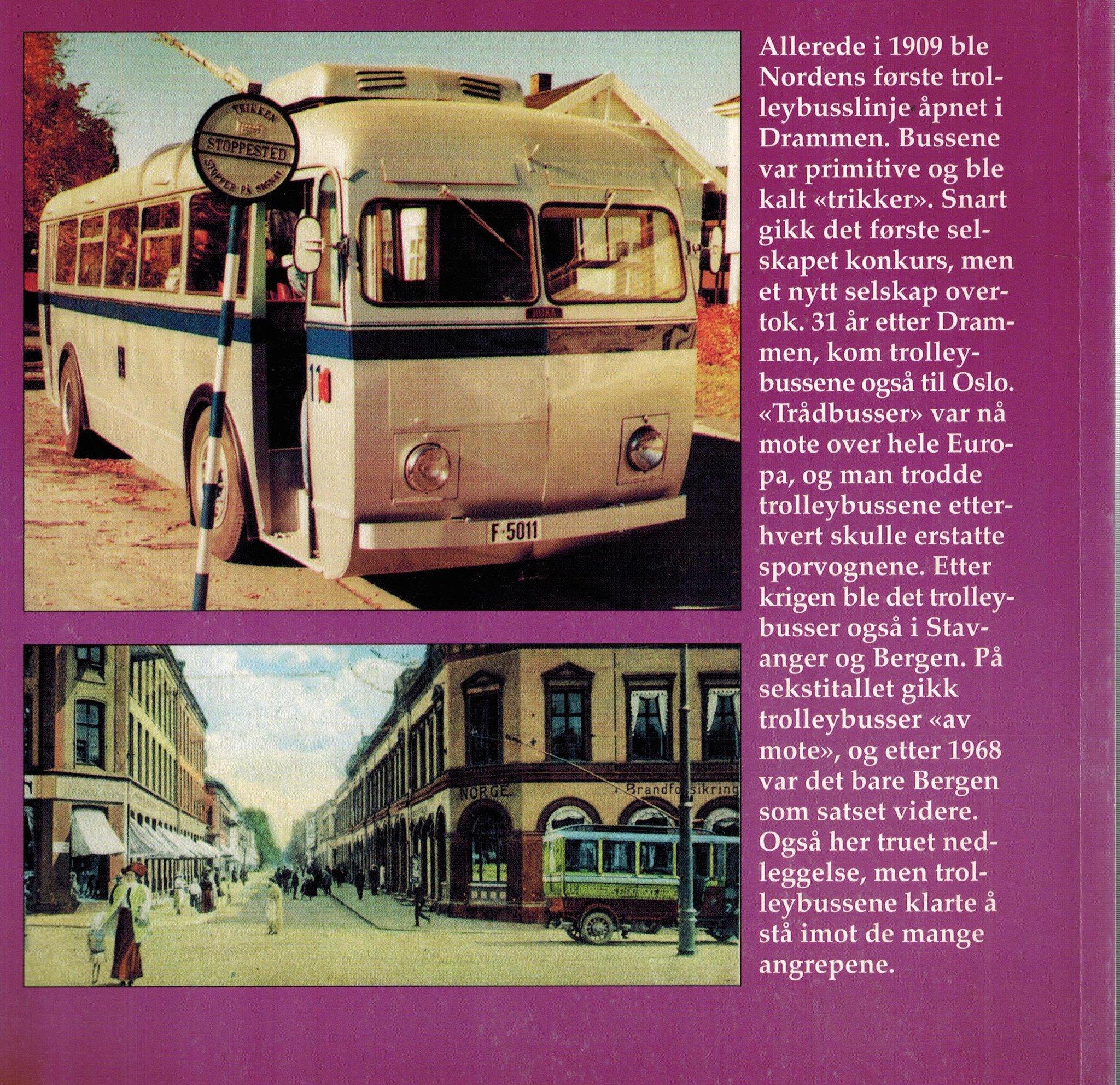 Trolleybussene i Norge