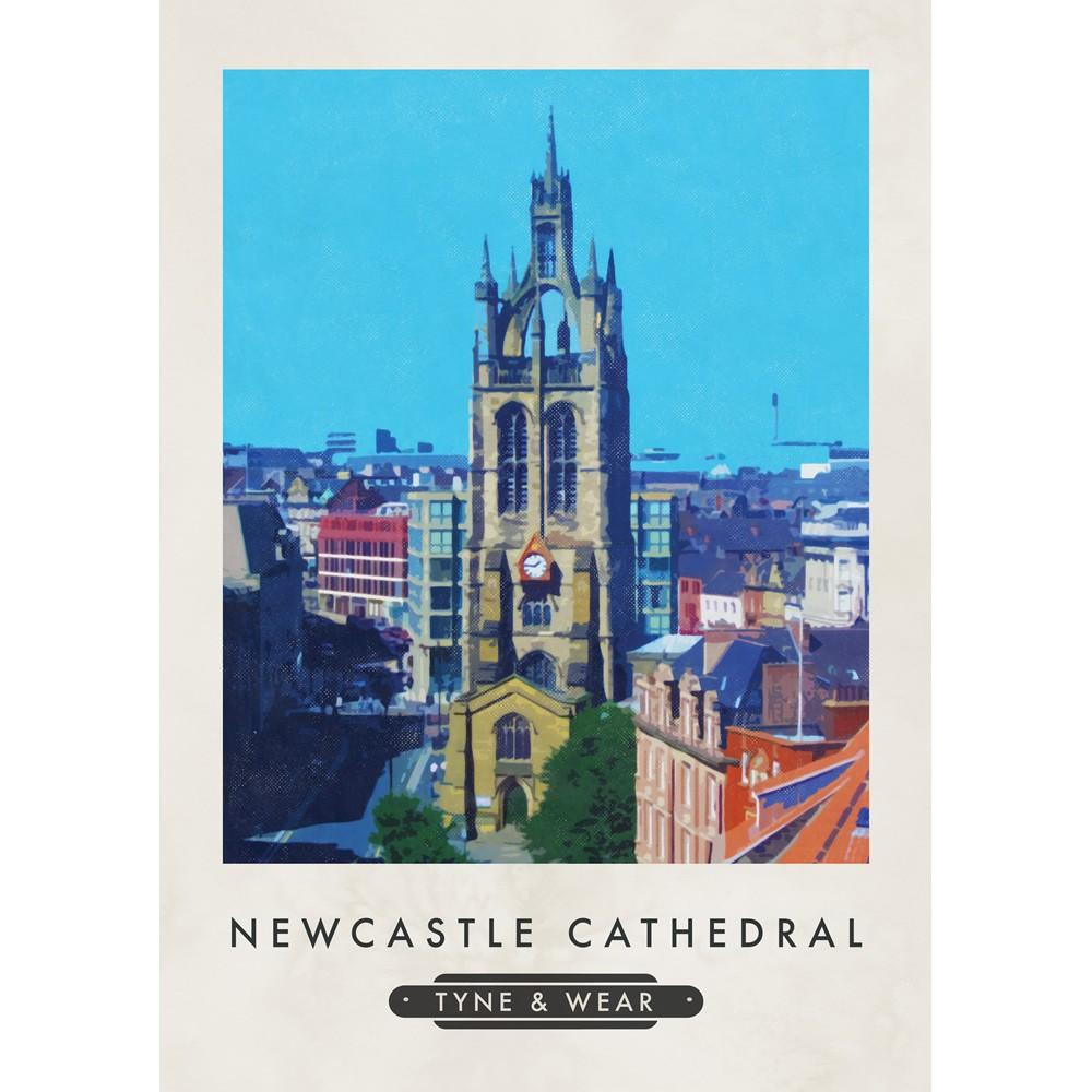Newcastle Cathedral Tyne & Wear Print