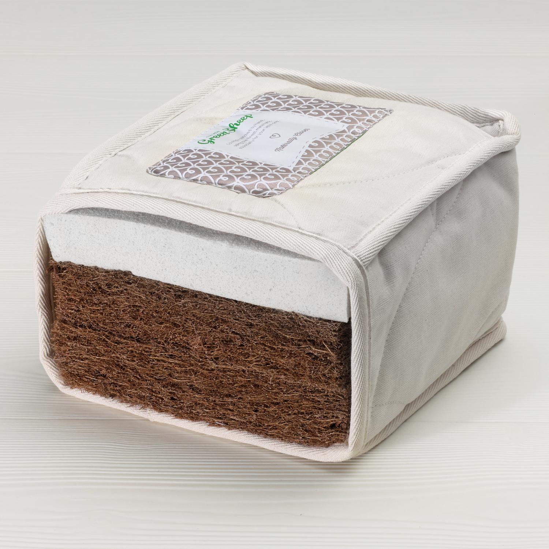The Little Green Sheep Natural  twist mattress to fit Snuzkot 68x117cm