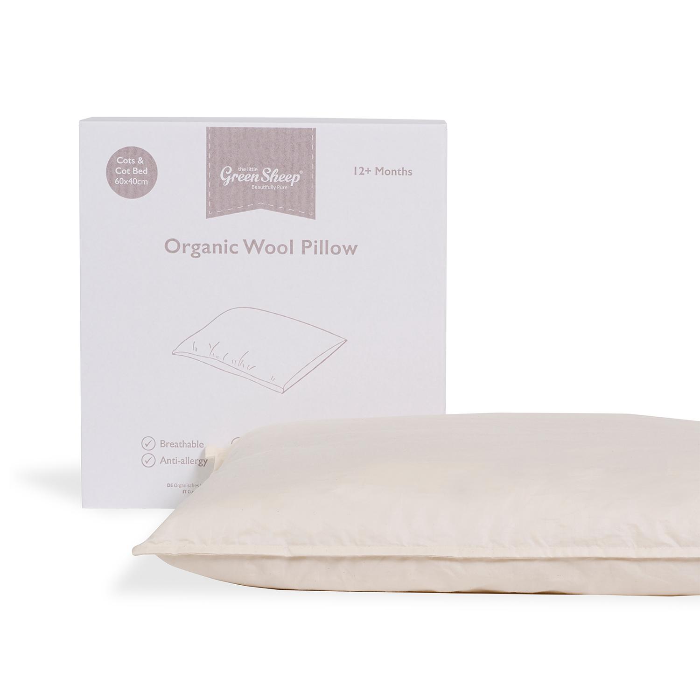 The Little Green Sheep Organic Children's Pillow