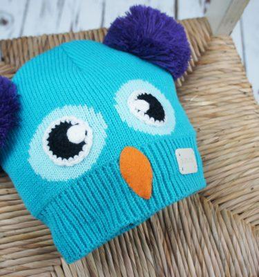 Blade & Rose Owl Double Bobble Hat