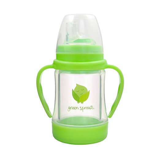 Green Sprouts - Glass Sip & Straw Cup