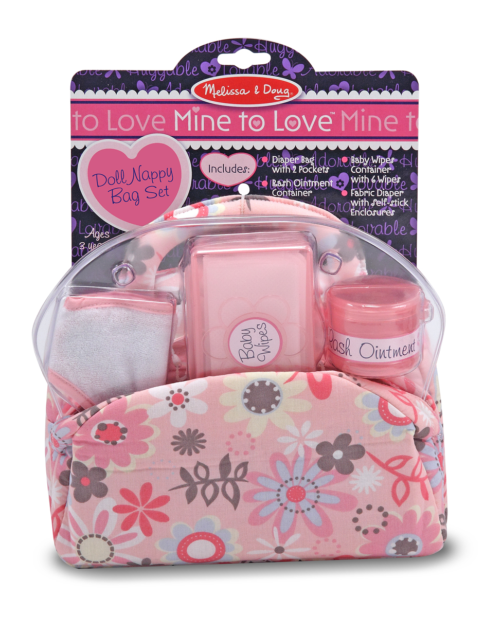 Mine to Love - Doll Nappy Bag Set