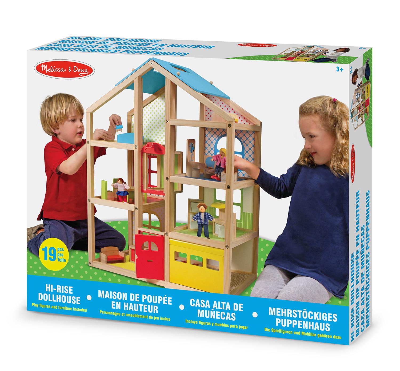 Wooden Hi-Rise Dollhouse