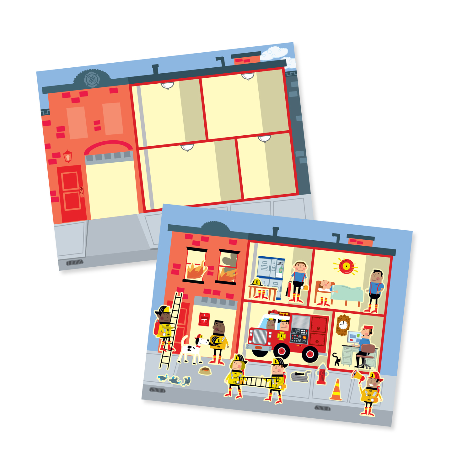 Reusable Sticker Pad - My Town