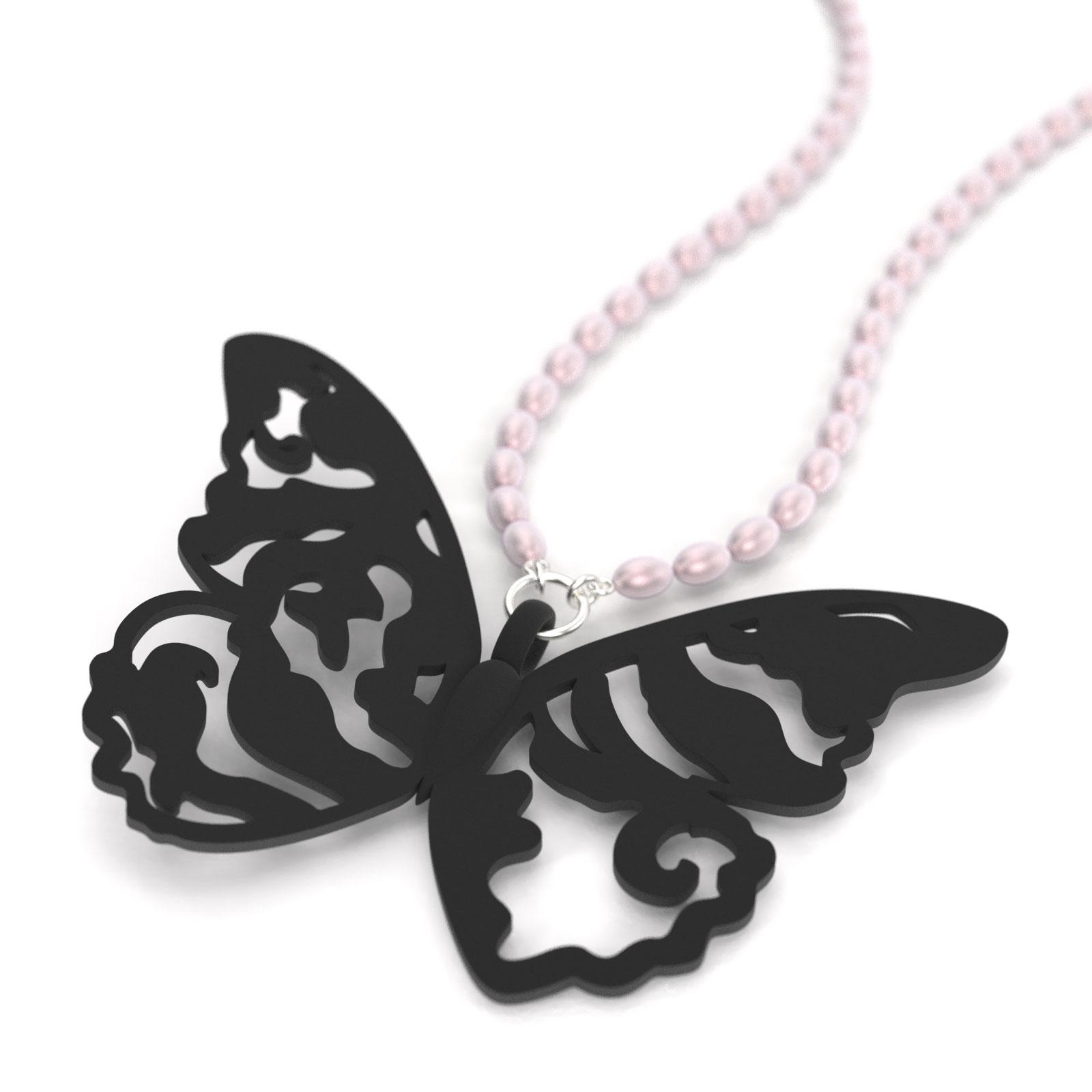 Butterfly Aurora Tattoo, pendant