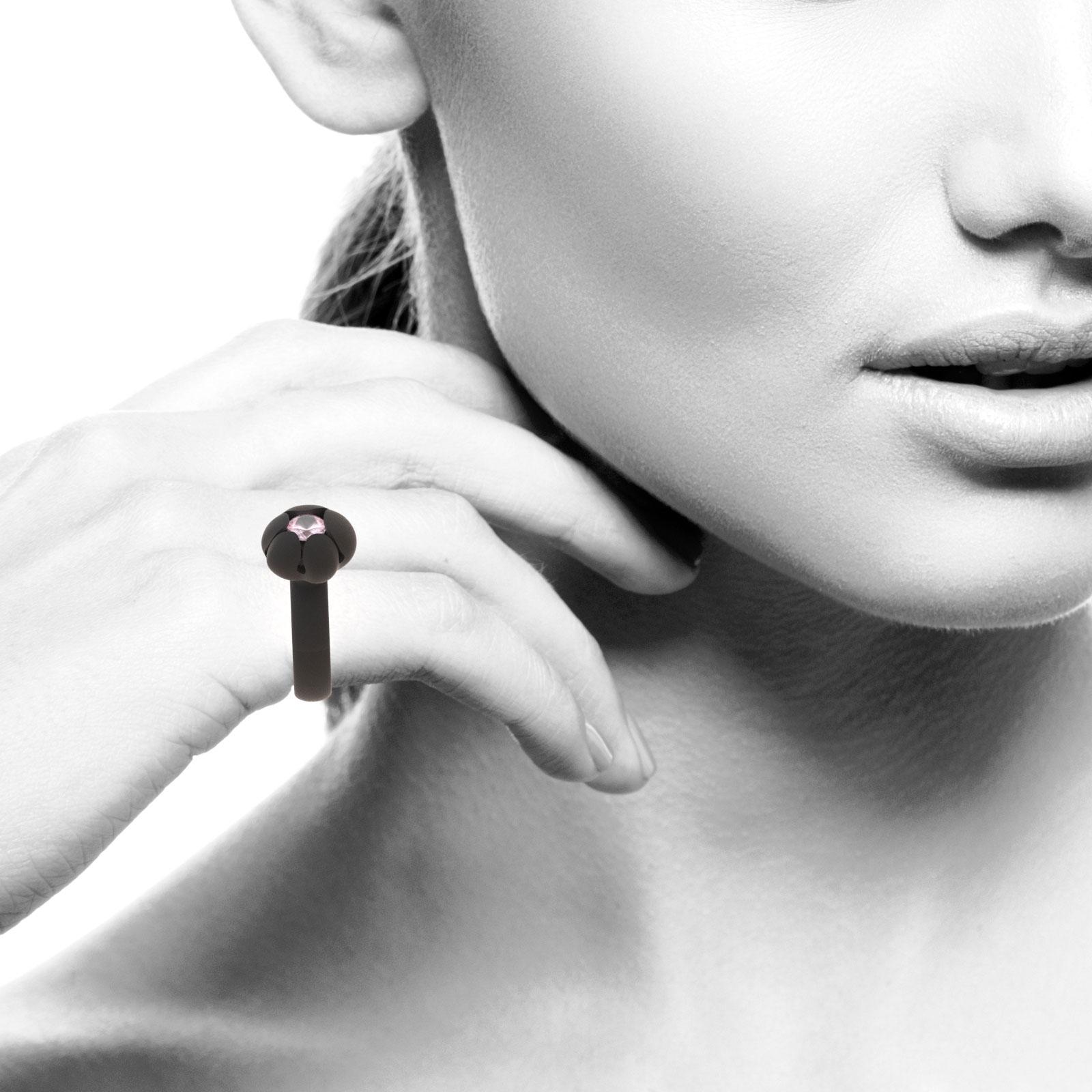 Bud Ring, 6mm Rose Quartz