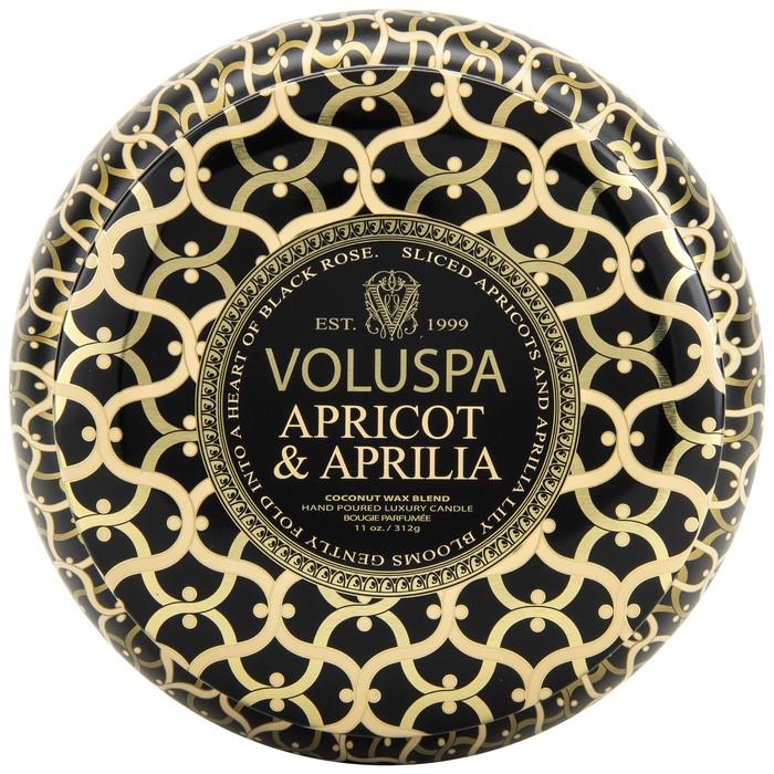 APRICOT & APRILIA METALLO 2 WICK CANDLE